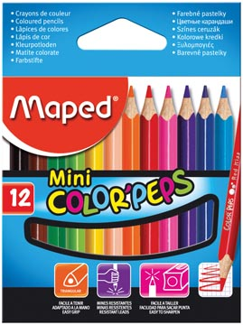 ETUI 12 MINI COLOR PEPS MAPED